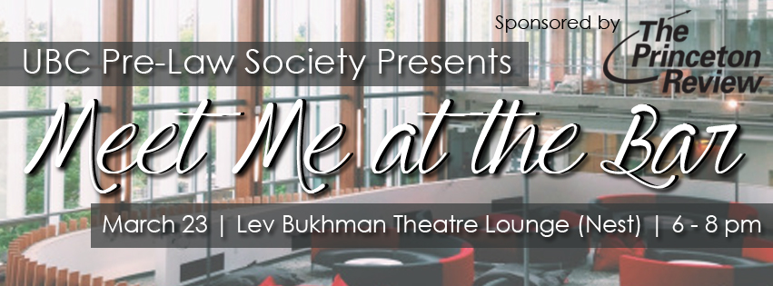 Our signature legal networking event, Meet Me at the Bar is back and will be held at the Lev Bukhman Theatre Lounge in the Nest this year on Wednesday, March 23rd at 6pm. At this event, we will be inviting lawyers across different fields of practice, such as criminal, real estate, corporate, etc. to speak to their professional experiences. You will also have an opportunity to mingle with them one-on-one after some light refreshments. We will also be introducing the executive team for next year on that night.